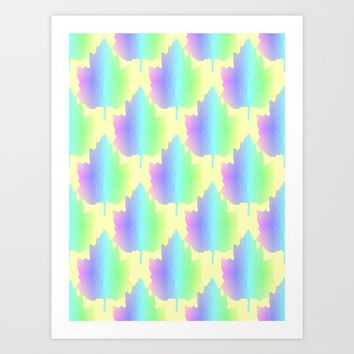 Pastel Nature Art Print by Sartoris ART