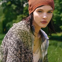 Open-Weave Slouch Beanie- Rust One