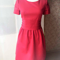 Red Dress, Red Petite dress, Short Red Dress , Petite Red Dress , Party Dress , Every day Dress - magic1668