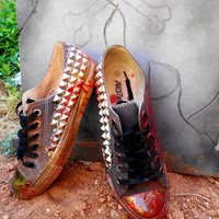 "Studded ""Bloody Chuck"" Mens Womens Coverse"