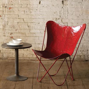 Red Iron Butterfly Chair