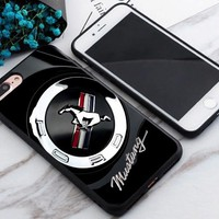 Hot Ford Mustang Emblem Logo Print On Fit Hard Plastic Cover Case For iPhone 7 +