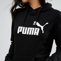 Puma Essentials Pullover Hoodie In Black at asos.com