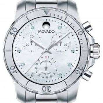 Movado Series 800 Ladies Chronograph Quartz Watch 2600128