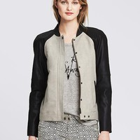 Banana Republic Womens Colorblock Bomber Jacket