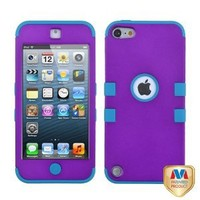 MyBat Rubberized Grape/Tropical Teal TUFF Hybrid Protector Cover for iPod touch 5