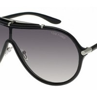 Tom Ford Ace FT0152 Sunglasses-01B Shiny Black (Gradient Dark Gray Lens)-135mm