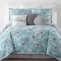 JCPenney Home Pencil Floral 4-pc. Comforter set - JCPenney
