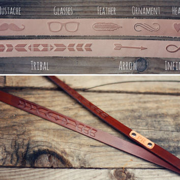 Custom Tribal Leather lanyard, Leather keychain, ID holder leather lanyard, key strap, Leather neck strap, ID holder badge, aztec, ID pass