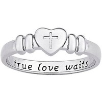 "Sterling Silver ""True Love Waits"" Purity Ring - Walmart.com"