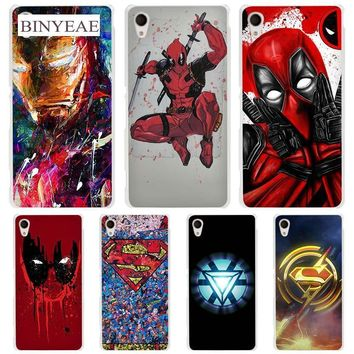 Deadpool Dead pool Taco Super Funny Cool Hero SuperMan Iron Man  hard Transparent Case Cover Coque for Sony Xperia z1 z2 z3 z4 z5 m4 aqua m5 XA AT_70_6