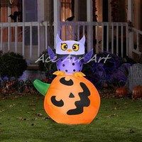 AceAirArt Owl and Pumpkin Stack Halloween Airblown Inflatable halloween decoration