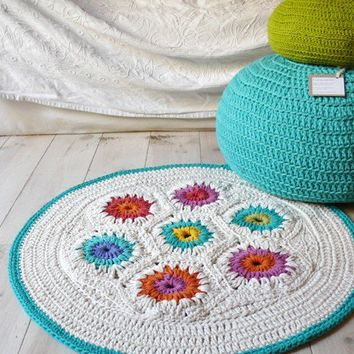 Rug Crochet hexagon by lacasadecoto on Etsy