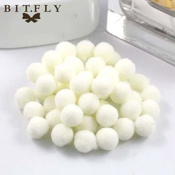 BITFLY 100pcs 10mm pompon balls Home Decor Decorative Flowers Intelligence Educational Craft DIY Toy Accessories Wreaths Garment