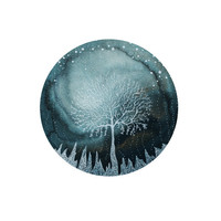 Fine Art Print-Indigo Ice Forest