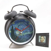 Van Gogh Starry Night Museum Bell Alarm Clock 6.5H