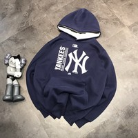 """""""New York Yankees"""" Casual Fashion Letter Personality Long Sleeve Hooded Sweater Women Hoodie Tops"""