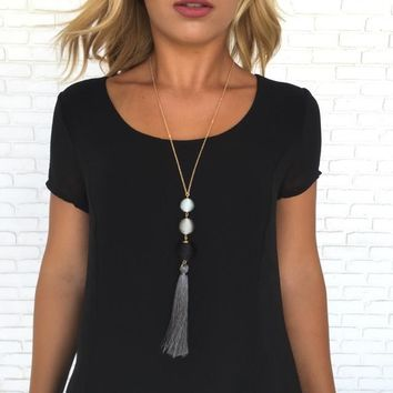 Life of the Party Fringe Necklace