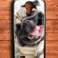 Smile Pug Dog Samsung Galaxy S4 Case