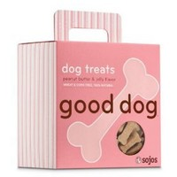 Sojos Good Dog Peanut Butter & Jelly Natural Crunchy Dog Treats, 8-Ounce Box