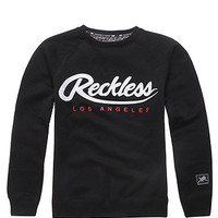 Young and Reckless Throwback Script Crew Fleece at PacSun.com