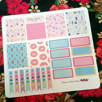107 kiss cut and ready to peel off Candy Theme   Stickers! Perfect for your Erin Condren Life Planner, Filofax, Kikkik, Plum Paper