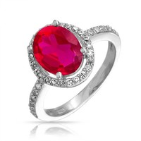 Bling Jewelry Ravenous Ruby Ring