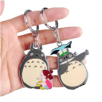 W1000 New Arrival Cute Japanese Anime Gray My Neighbor Totoro Keychain Metal Figures Pendants Key Chains