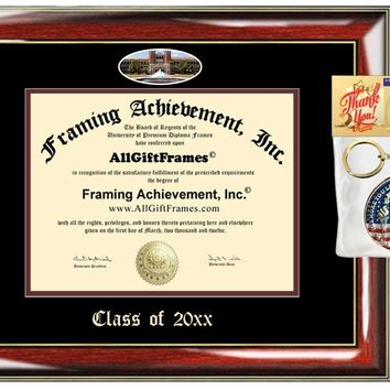 AllGiftFrames Custom Diploma Frame Embossed FSU Best Graduation Degree Florida State University Frame Double Mat Campus Fisheye Picture Frame Cheap Degree Certificate Graduate Gift
