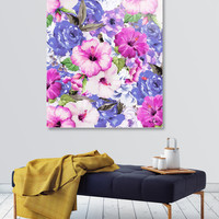 «Purple Blossom», Limited Edition Acrylic Glass Print by Uma Gokhale - From $99 - Curioos