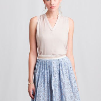 Lace Pleated Skirt by English Factory