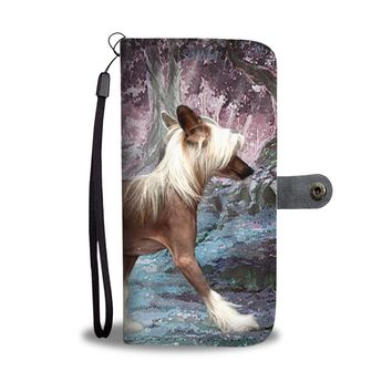 Chinese Crested Dog Print Wallet Case-Free Shipping