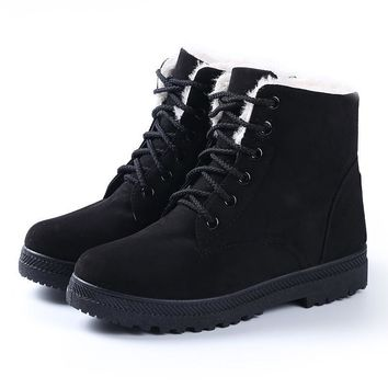 Women boots 2016 new snow boots winter women fashion ankle boots for women shoes winte