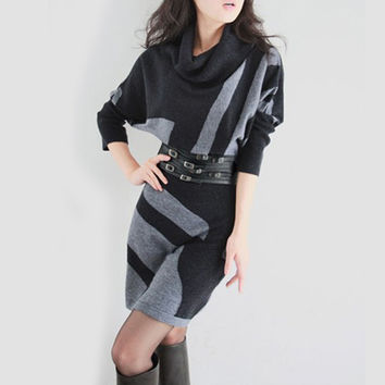 Women Winter Slim Casual Design Dress