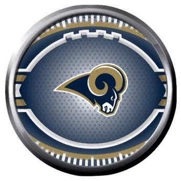 NFL Superbowl LA Rams Cool Art Football Fan Logo 18MM-20MM Snap Jewelry Charm New Item
