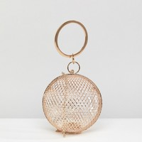 ASOS Cage Sphere Clutch Bag at asos.com