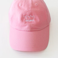 ~(˘▾˘~) Feelings Cap - Pink