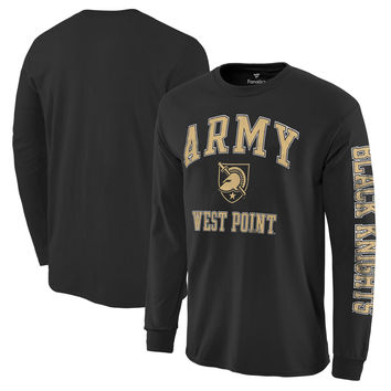 Army Black Knights Fanatics Branded Distressed Arch Over Logo Long Sleeve Hit T-Shirt - Black