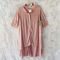 Lola T-Shirt Tunic Dress in Rose