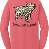 Leopard Pig Long Sleeve T-Shirt