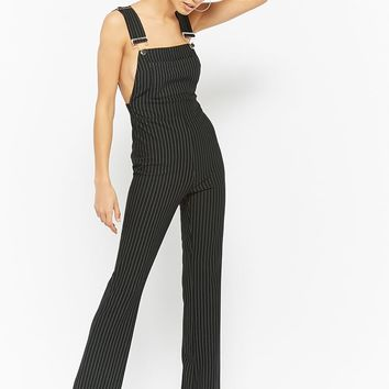 Pinstriped Flare Overalls