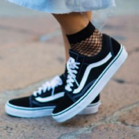 Vans Old School Classics Casual Canvas Flats Sneakers Sport Shoes Black white lace up
