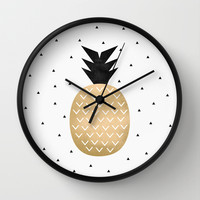 Pineapple Wall Clock by Elisabeth Fredriksson