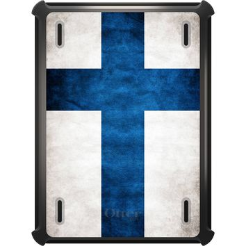 DistinctInk™ OtterBox Defender Series Case for Apple iPad - Finland Old Flag