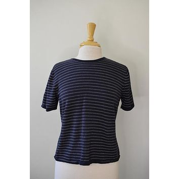 Vintage Striped Silk Blend Tee