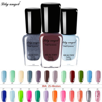 Lily angel 8ml 48 Colors nagellak Nail Polish Gel Paint Peel off Water Based Nails Art Glue Quick Drying Beauty Tools NO.25-48