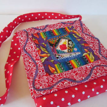 ON SALE - Dia De Los Muertos Sacred Heart Messenger Bag