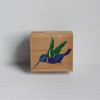 HUMMINGBIRD Rubber Stamp, Rubber Stampede rubber stamp, Vintage arts and crafts supply, arts supplies,gift for scrapbooker,gift for mom