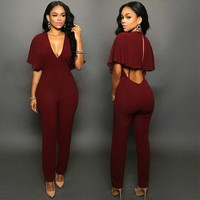 Women Clubwear Hollow Jumpsuit