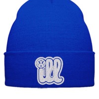 ill volksvagen embroidery - Beanie Cuffed Knit Cap